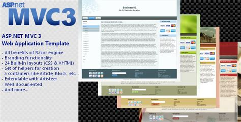 asp net mvc templates net asp net mvc 3 app template with branding features