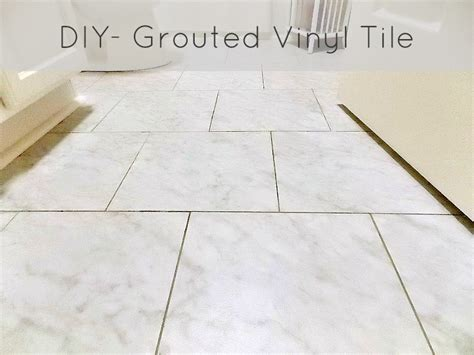 can you grout vinyl tile diy grouted vinyl floor reveal and tutorial sweet