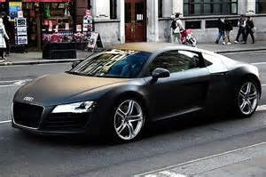 matte black audi r8 4 2 quattro cars