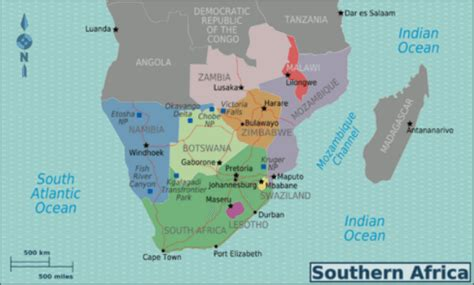 south africa map countries countries in south africa list and facts