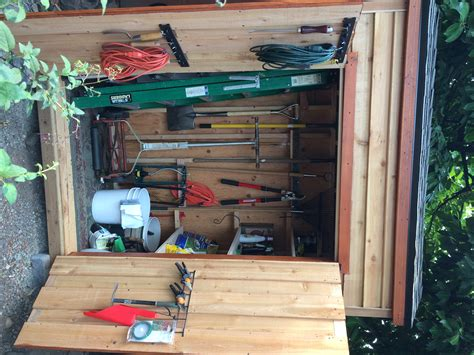 ana white cedar yard tool shed diy projects