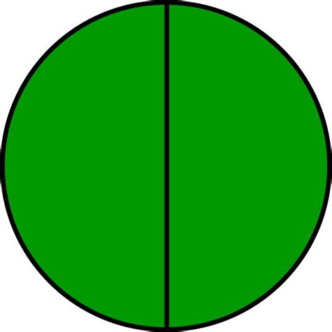 Two Halves by Fraction Circle Two Halves Green Images Frompo