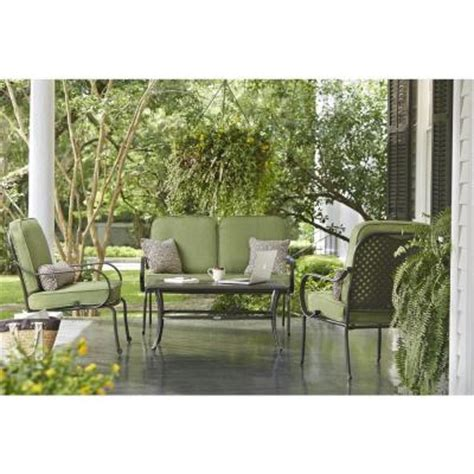 hton bay fall river 4 patio seating set with moss