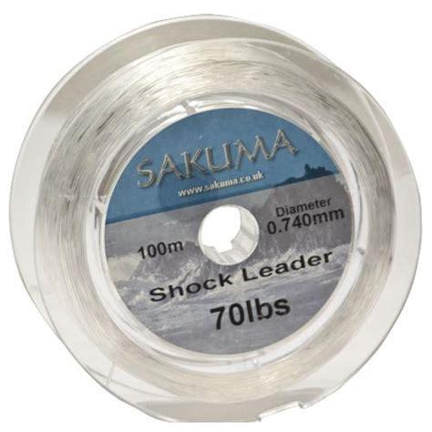 sakuma shock leader 50lb bs 100m spool by fishing