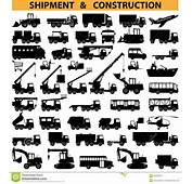 Vector Commercial Vehicles Pictograms Stock  Image