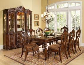 Dining Room Sets Used Homelegance Prenzo 9 Piece Dining Room Set In Warm Brown