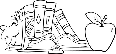 dibujo de libros y manzana para colorear dibujos net estanteria de libros dibujalia dibujos para colorear