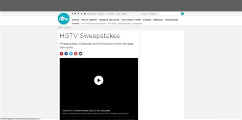 Www Sweepstakes - hgtv 2015 home giveaway sweepstakes autos post