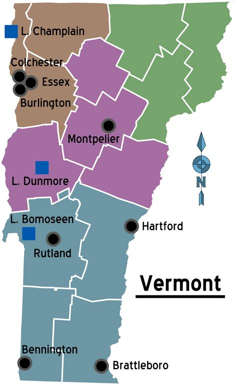 map of vt vermont travel guide at wikivoyage