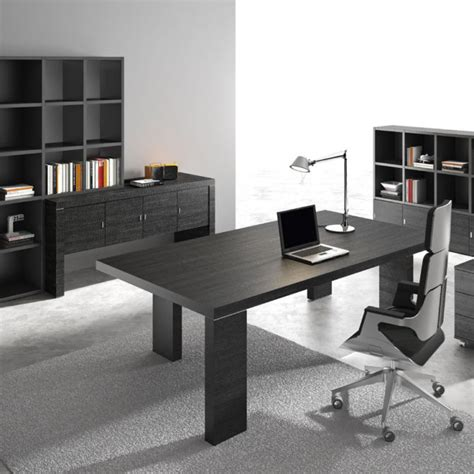 Modern Black Desk Modern Black Wood Executive Desk Ambience Dor 233