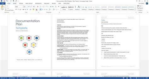 documentation plan template 28 page ms word