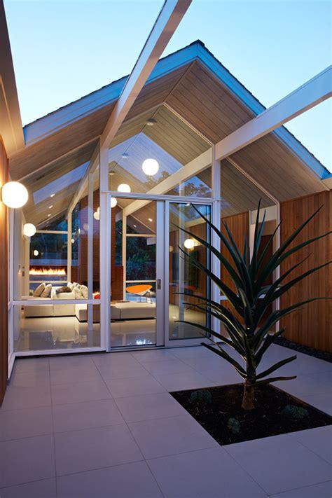 mid century modern eichler house  california