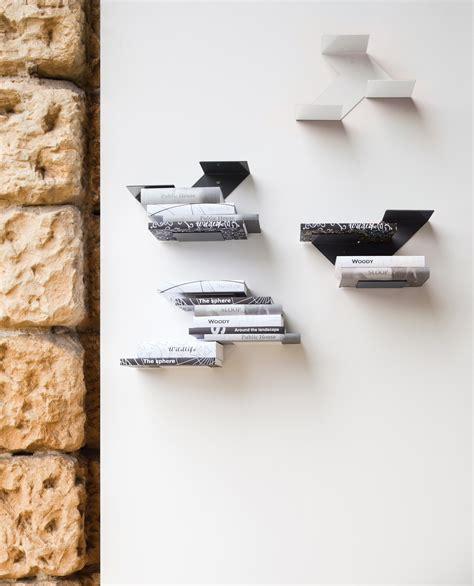 designer shelves fishbone wall shelves of b line are steel wall shelf fin by b line design neuland industriaedesign