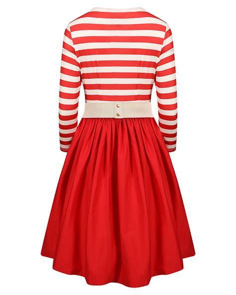swing dress size 20 red and white stripe swing dress size 20 elsie s attic