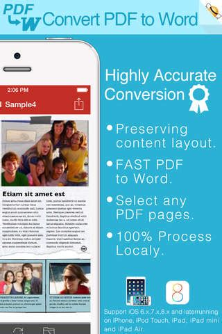 convert pdf to word iphone pdf to word by feiphone free iphone ipad app app decide
