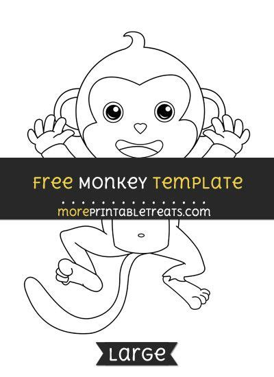 monkey template 25 unique monkey template ideas on monkey