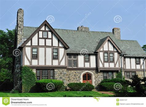 Free Architectural House Plans by English Tudor House Exterior Stock Image Image 20251147