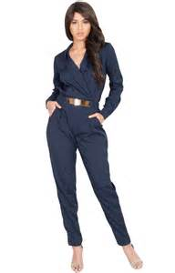roslin long sleeve metallic belt chic jumpsuit