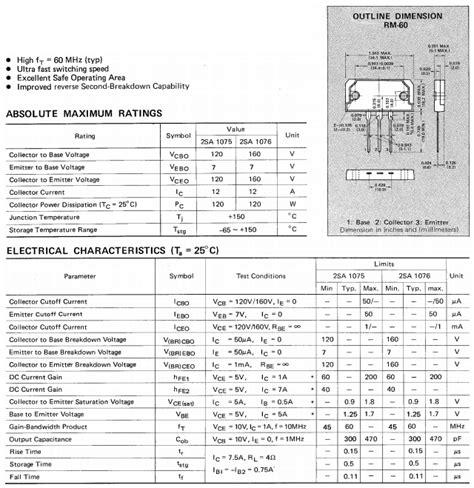 transistor k2698 transistor k b817 datasheet 28 images 2sa1075 datasheet pdf ring emitter transistor fujitsu