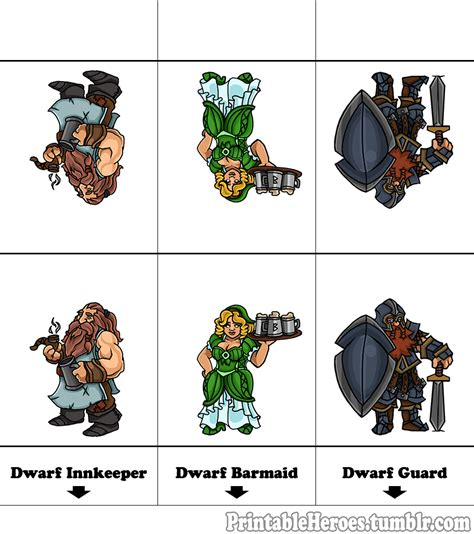 printable heroes printable heroes here s the printable tavern set dwarven