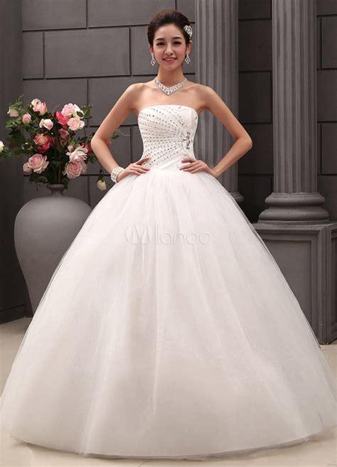 Robe De Mariée Princesse Bustier Paillette - robe de mariage exquise boule en tulle avec paillettes