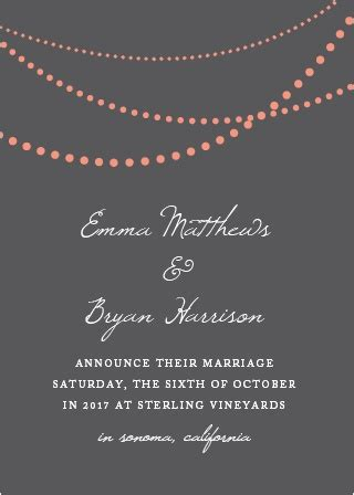 Wedding Announcement List by Wedding Announcements Just Married Designs By Basic Invite