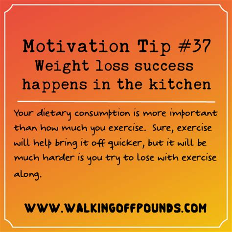 How To Be A Success In The Kitchen by Motivation Tip Weight Loss Success Happens In The Kitchen