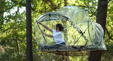 Tiny House Blog by Tree House Hotel In France Bubble Tents Tree House