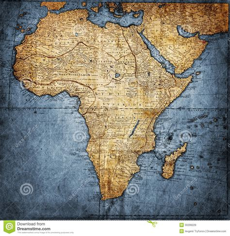 africa map vintage vintage map africa royalty free stock images image 30299229