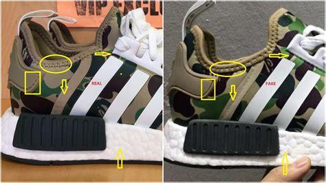 real  fake bape adidas nmd  ba green camo