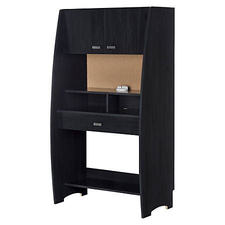 south shore desk with hutch south shore reevo desk with hutch and storage black onyx