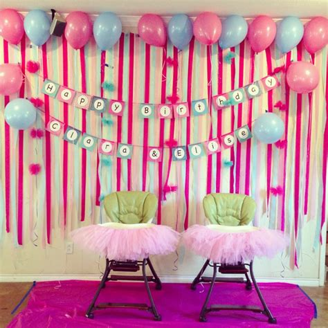 simple home decoration for birthday home design the cbell crew the girls st birthday