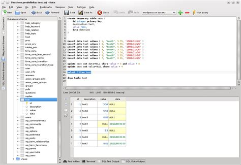 design name editor katesql a new plugin for kate kate get an edge in editing