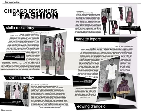 layout fashion blog akgdesign magazine layout