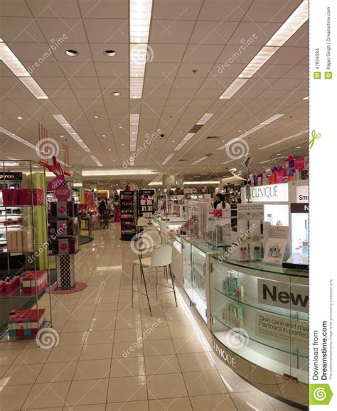 mall sections cosmetic section inside mall editorial stock image image
