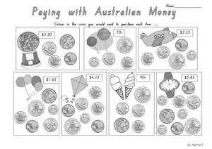 australian money worksheets teach in a box