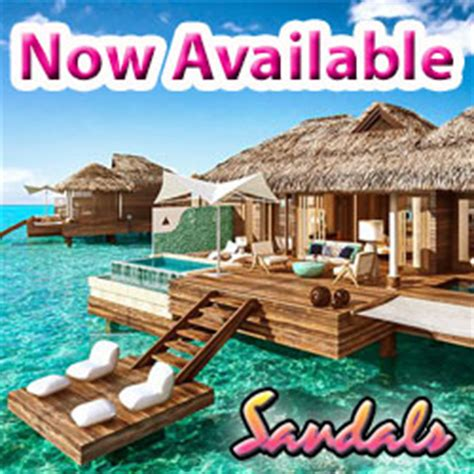 sandals over water bungalow suites – jamaica – latitudes