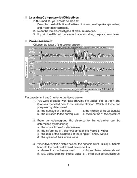 earthquake quiz questions and answers science grade 10 learner s module