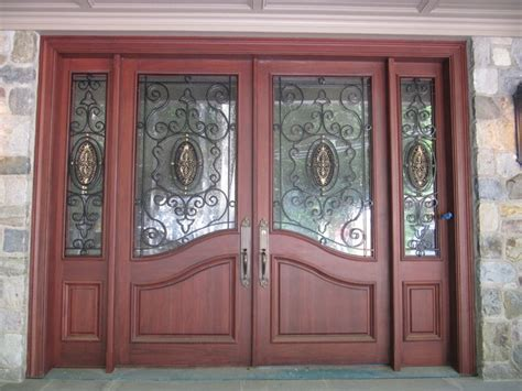 Wood And Iron Front Doors Wood With Wrought Iron Mediterranean Front Doors Other Metro By Grand Doors