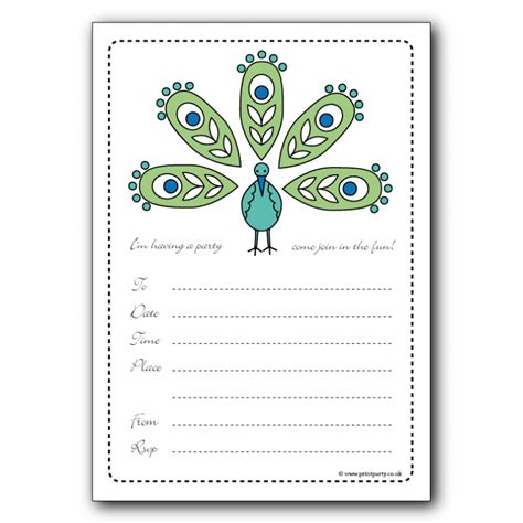 party invitations colorfull party invitaton template
