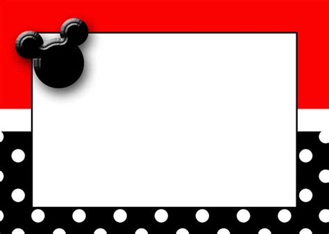 Printable Magic Card Template by Mickey Mouse Cards Free Printable Mickey Mouse Birthday
