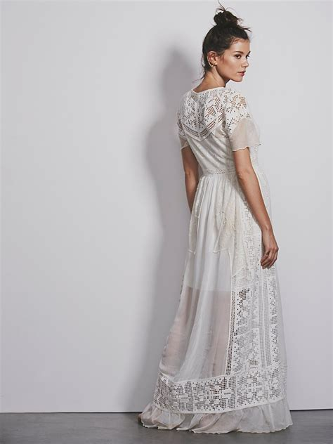 people boho wedding dress  noubacomau