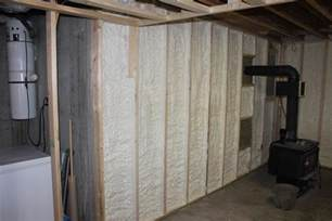 spray insulation basement insulate a basement wall with closed cell spray foam st