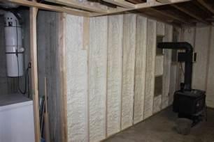 spray foam insulation basement insulate a basement wall with closed cell spray foam st
