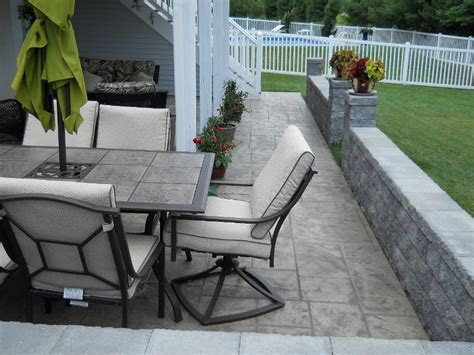 patio exles exles of sted concrete
