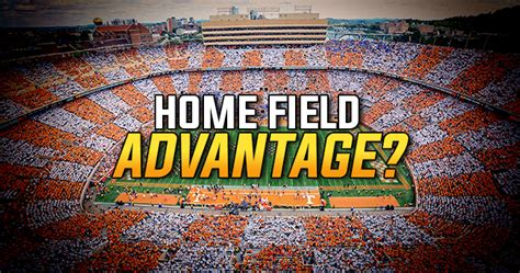 home field advantage slim in college football against