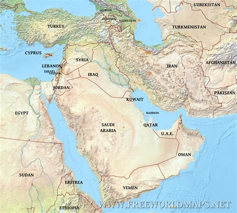 middle east map geographical middleeast physical map jpg 1 200 215 1 078 pixels ajax in