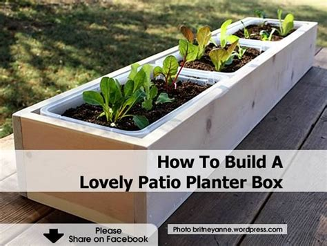 How To Build A Lovely Patio Planter Box How To Make Planters