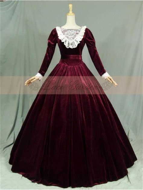 velvet long sleeves lace victorian dress devilnightcouk