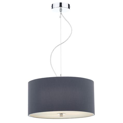 pleated drum l micro pleated drum grey l imperial lighting